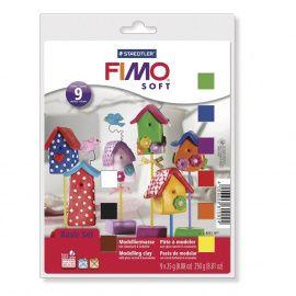Набор полимерной глины SOFT 9 цветов по, 8023-10, 25гр, FIMO Россия.