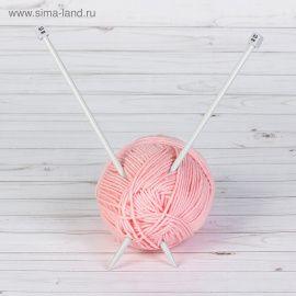 Спицы для вязания, прямые, с тефлоновым покрытием, d = 8мм, 35см, 2шт, АРТ УЗОР Россия.