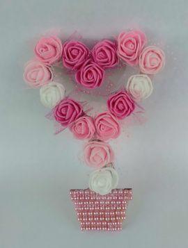 Магнит-топиарий Розовый сад - подарок ручной работы на свадьбу Беларусь.