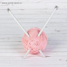 Спицы для вязания, прямые, с тефлоновым покрытием, d = 12мм, 35см, 2шт, АРТ УЗОР Россия.