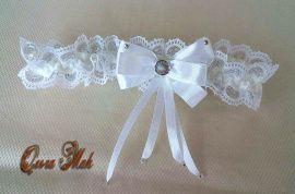 Подвязка невесты Нежность - подарок ручной работы на свадьбу Беларусь.