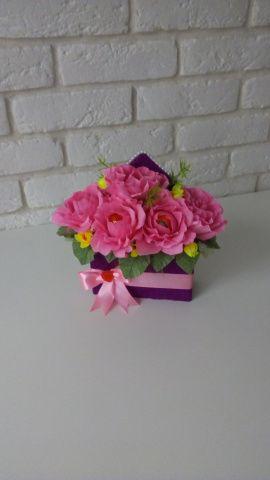 Букет из конфет Розовые розы в Stranamasterov.by Беларусь.