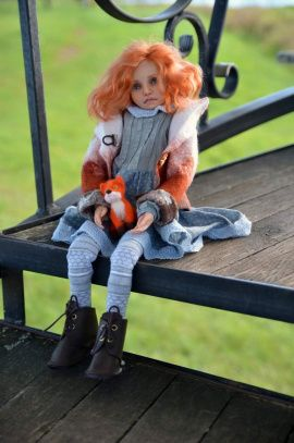 Кукла из полимерной глины Аленка в Stranamasterov.by Беларусь.