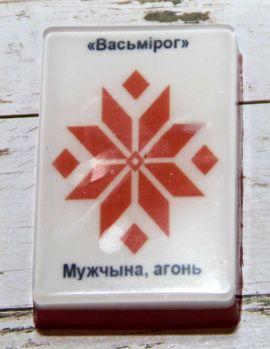 Сувенирное мыло Вышиванка Мужчына в Stranamasterov.by Беларусь.
