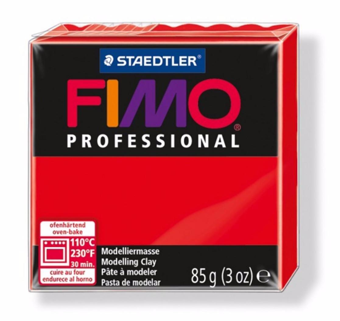 Полимерная глина FIMO PROFESSIONAL Красный 8004-200 85гр