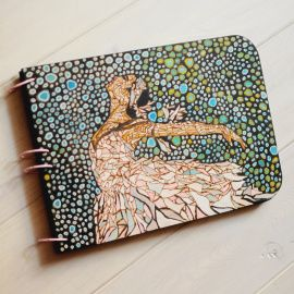 Блокнот из дерева А4 Балерина в Stranamasterov.by Беларусь.