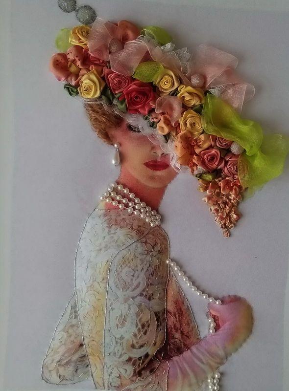 Картина Дама в шляпке в Stranamasterov.by