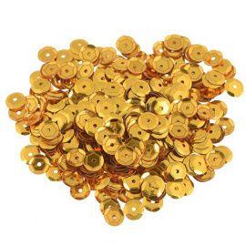 Пайетки граненые, 6мм, упаковка, А1 золото, 100гр Россия.