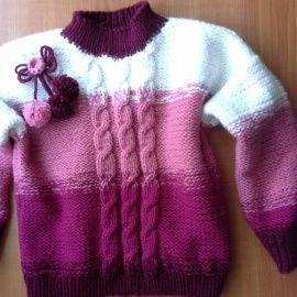 Пуловер для девочки Зимний в Stranamasterov.by Беларусь.