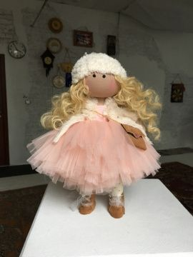 Интерьерная кукла Кудряшка в Stranamasterov.by Беларусь.