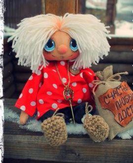 Интерьерная кукла Домовёнок Кузик в Stranamasterov.by Беларусь.