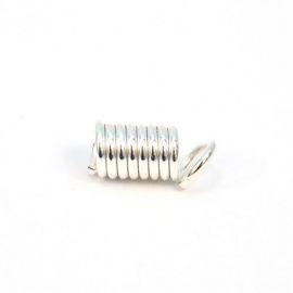 Концевик, 4мм, упаковка 5шт, серебро, LH001-B, АСТРА Россия.