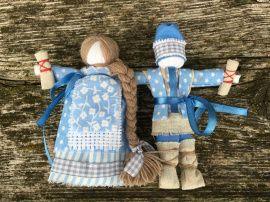 Кукла мотанка оберег Неразлучники в Stranamasterov.by Беларусь.