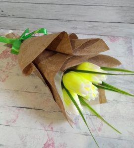 Сувенирное мыло Букет из 5 тюльпанов в Stranamasterov.by Беларусь.