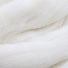 Шерсть для валяния мериносовая тонкая 100%, 100гр (0230 отбелка) Беларусь.