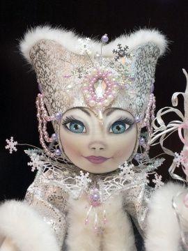 Текстильная кукла Снежная королева в Stranamasterov.by Беларусь.