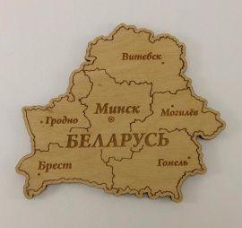 Магнит Карта Беларуси в Stranamasterov.by Россия.
