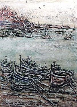 Барельеф, картина Порт в Stranamasterov.by Беларусь.