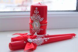 Семейный очаг Алый - подарок ручной работы на свадьбу Россия.