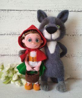 Амигуруми куклы Красная Шапочка и Серый Волк в Stranamasterov.by Беларусь.