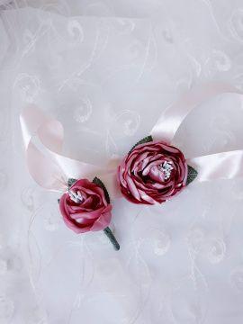 Свадебные Бутоньерки свидетелям - подарок ручной работы на свадьбу Беларусь.