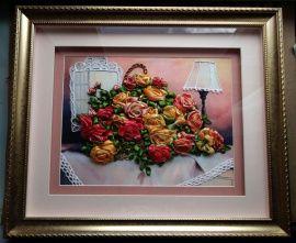 Картина Розы на столе в Stranamasterov.by Беларусь.