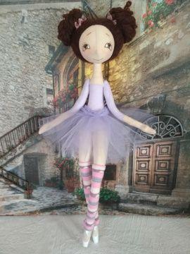Текстильная кукла Балерина в лаванд. пачке в Stranamasterov.by Беларусь.