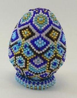 Сувенирное яйцо из бисера Корона русалки в Stranamasterov.by Беларусь.