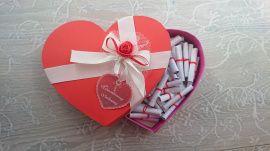 Коробочка любви 50 причин, почему я люблю - подарок ручной работы на свадьбу Беларусь.