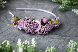 Ободок на один бок Фиолетовые розочки в Stranamasterov.by Беларусь.