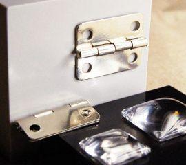 Петля 25*19мм, упаковка 4шт, серебро, ШПМ35.1.4 Россия.