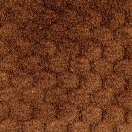 """Мех """"Фактурный-СОТЫ"""" 50см*50см +/-1, цв.коричневый, 25743 Россия."""