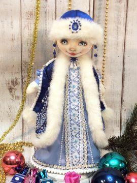 Текстильная кукла Снегурочка в Stranamasterov.by Беларусь.