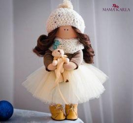 Интерьерная текстильная кукла Зефирная Эмилия в Stranamasterov.by Беларусь.