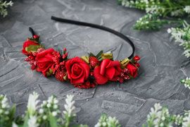 Ободок на один бок Красные розы в Stranamasterov.by Беларусь.
