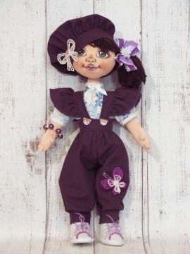Текстильная кукла Люсьена в Stranamasterov.by Беларусь.