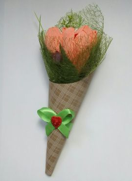 Букет Тюльпаны из конфет в Stranamasterov.by Беларусь.