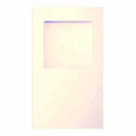 """Открытка тройная """"Квадрат"""", 9.6*16.2см, упаковка 3шт, 002 белый перламутровый, О32 Россия."""