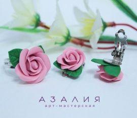Комплект Розовые розы в Stranamasterov.by Беларусь.