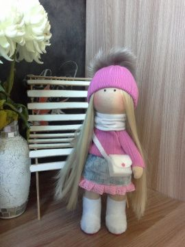 Интерьерная кукла Блондиночка в Stranamasterov.by Беларусь.