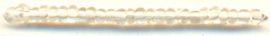 Бисер, стекло, упаковка, 1 белый, /прозрачный, 8/0, 20гр, АСТРА Россия.