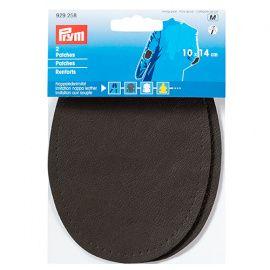 Заплатка искусственная кожа наппа 10*14см темно-серый цв. 2шт, 929258, PRYM Россия.