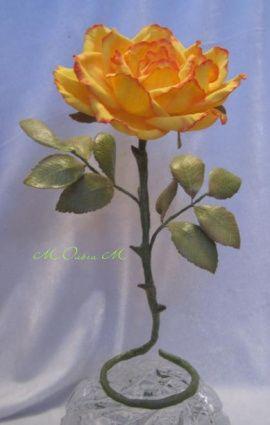 Сувенир Жёлтая роза в Stranamasterov.by Беларусь.