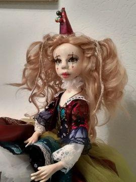 Авторская кукла Клоунесса Веста в Stranamasterov.by Беларусь.
