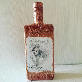 Оформление бутылки Ангел - подарок ручной работы на свадьбу Беларусь.