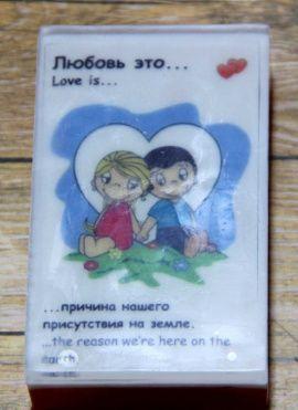 Сувенирное мыло Love is в Stranamasterov.by Беларусь.
