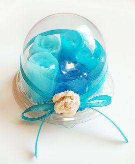 Набор мыла 5 шт Голубые розы - подарок ручной работы на свадьбу Россия.