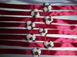 Бутоньерки подружкам - подарок ручной работы на свадьбу Беларусь.