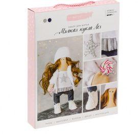 """Интерьерная кукла """"Лея"""", набор для шитья, 18.9*22.5*2.5см, 3299326 Россия."""
