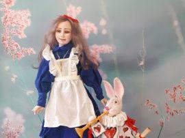 Авторская кукла Алиса и Белый Кролик в Stranamasterov.by Беларусь.